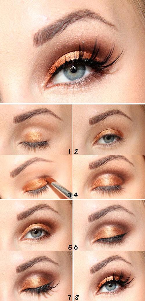 12 Easy Simple Fall Makeup Tutorials