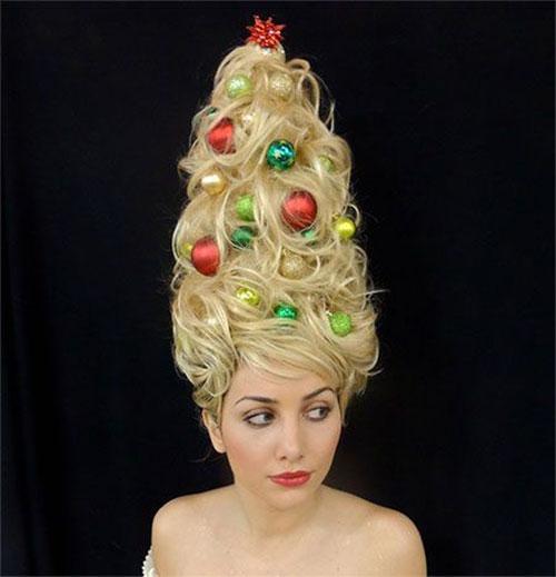 Terrific 15 Creative Christmas Themed Hairstyle Ideas 2015 Xmas Tree Short Hairstyles For Black Women Fulllsitofus