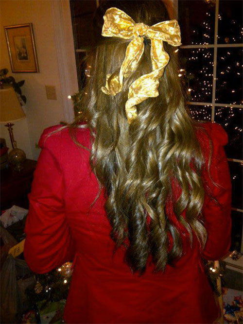 Xmas Hairstyles 2015 : Creative Christmas Themed Hairstyle Ideas 2015 Xmas Tree Hairstyles 6 ...