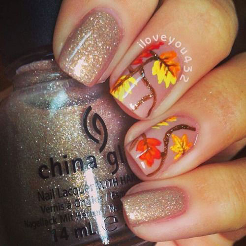 20 Fall Autumn Nail Art Designs Ideas Amp Stickers 2015