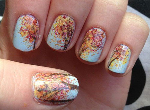 20 Fall Autumn Nail Art Designs Ideas Stickers