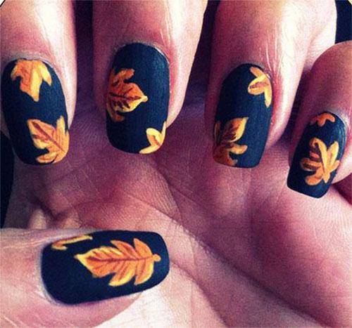 Toe Nail Designs 2015 Fall: 20+ Fall / Autumn Nail Art Designs, Ideas & Stickers 2015