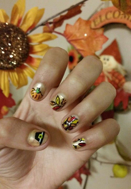 25+ Inspiring & Easy Thanksgiving Nail Art Designs, Ideas & Trends ...