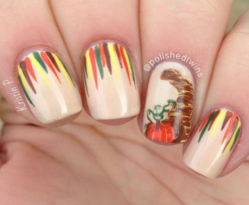 25 Inspiring Easy Thanksgiving Nail Art Designs Ideas Trends