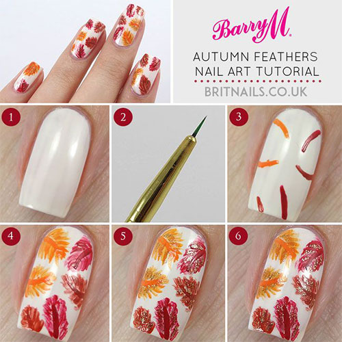 Easy-Simple-Autumn-Fall-Nail-Art-Tutorials-For-Beginners-Learners-2015-1