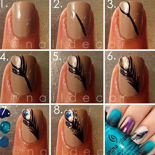 Easy-Simple-Autumn-Fall-Nail-Art-Tutorials-For-Beginners-Learners-2015-2