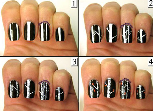 Easy-Simple-Autumn-Fall-Nail-Art-Tutorials-For-Beginners-Learners-2015-3