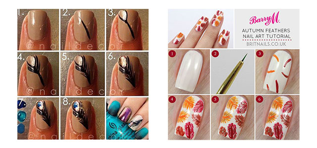 Easy-Simple-Autumn-Fall-Nail-Art-Tutorials-For-Beginners-Learners-2015-F