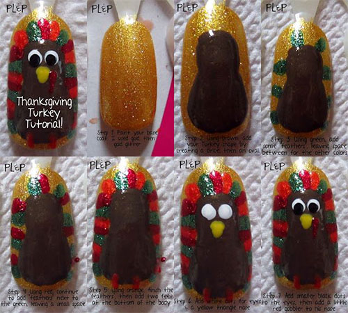 Simple-Thanksgiving-Nail-Art-Tutorials-For-Beginners-Learners -2015-3