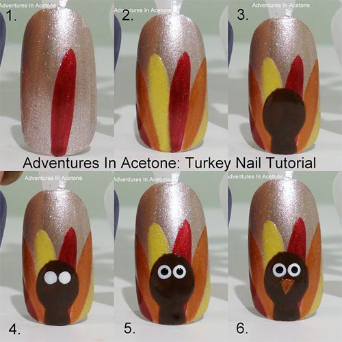 Simple-Thanksgiving-Nail-Art-Tutorials-For-Beginners-Learners -2015-4