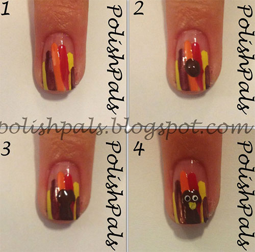 Simple-Thanksgiving-Nail-Art-Tutorials-For-Beginners-Learners -2015-6