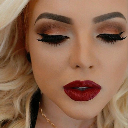 12-Christmas-Themed-Makeup-Looks-Ideas-For-Girls-Women-2015-4