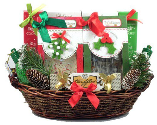 Popcorn gift baskets christmas