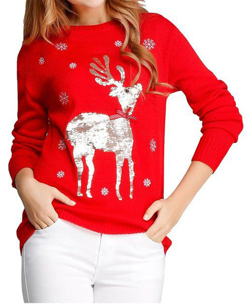 18-Best-Ugly-Lighted-Christmas-Sweaters-For-Girls -Women-2015-16