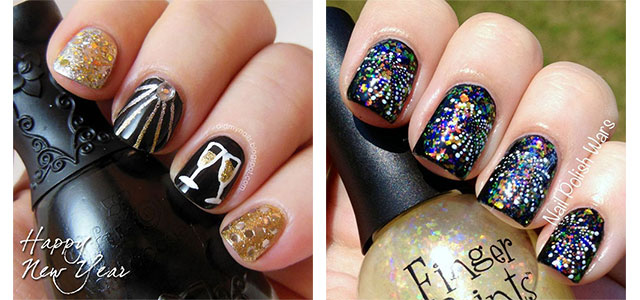 15 Best Happy New Year Eve Nail Art Designs Ideas Stickers 2015 2016