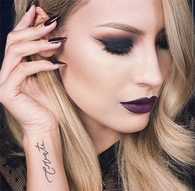 15-Winter-Themed-Dark-Lips-Makeup-Ideas-Styles-Looks-2016-12