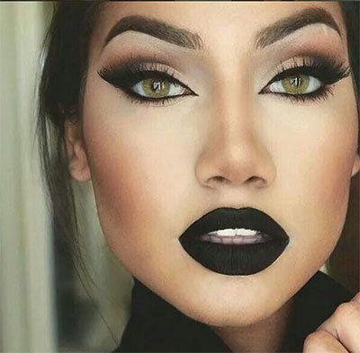 15-Winter-Themed-Dark-Lips-Makeup-Ideas-Styles-Looks-2016-5