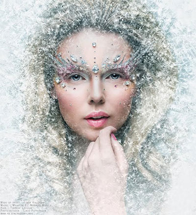 15-Winter-Themed-Fantasy-Makeup-Looks-Ideas-2016-Fairy-Makeup-1