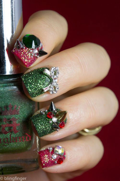 50-Best-Christmas-Nail-Art-Designs-Ideas-Stickers-2015-Xmas-Nails-11