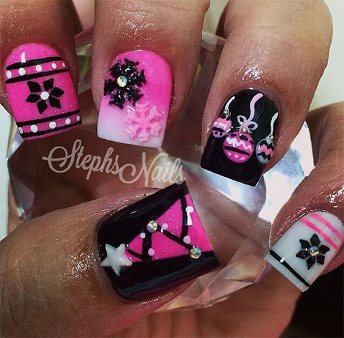 50-Best-Christmas-Nail-Art-Designs-Ideas-Stickers-2015-Xmas-Nails-14