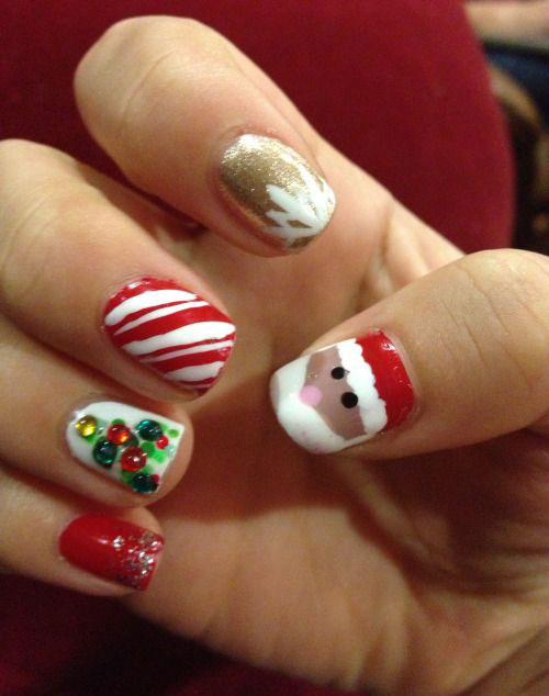50-Best-Christmas-Nail-Art-Designs-Ideas-Stickers-2015-Xmas-Nails-40
