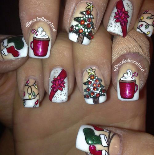 50-Best-Christmas-Nail-Art-Designs-Ideas-Stickers-2015-Xmas-Nails-48