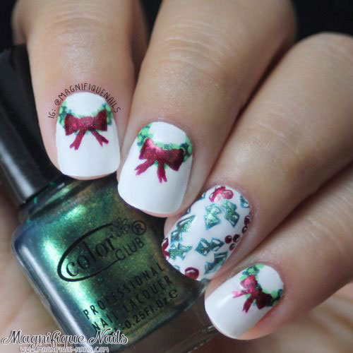 50 Best Christmas Nail Art Designs Ideas Stickers 2015 Xmas
