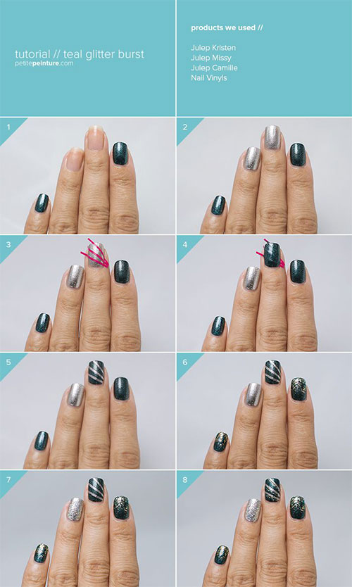 Simple-Easy-Happy-New-Year-Eve-Nail-Art-Tutorials-2015-2016-3