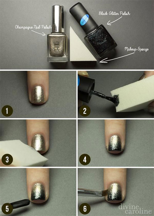 Simple-Easy-Happy-New-Year-Eve-Nail-Art-Tutorials-2015-2016-4