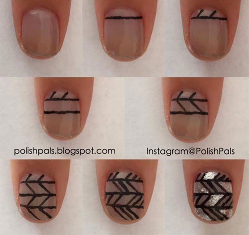 Simple-Easy-Happy-New-Year-Eve-Nail-Art-Tutorials-2015-2016-5