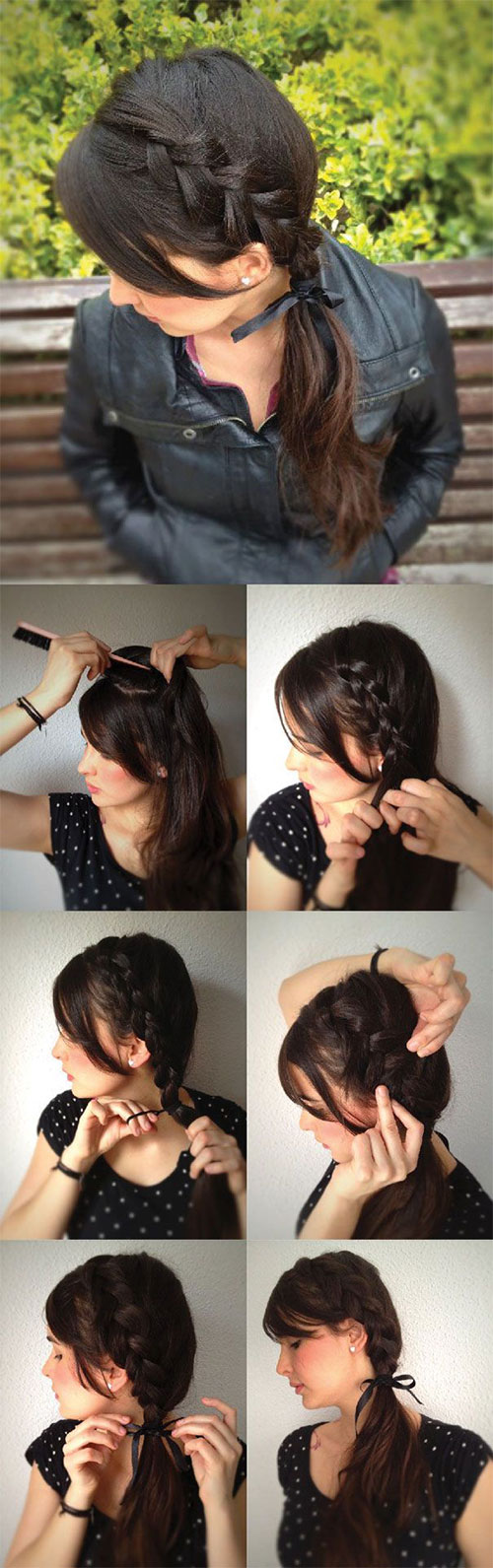 Simple Step By Step Winter Hairstyle Tutorials For