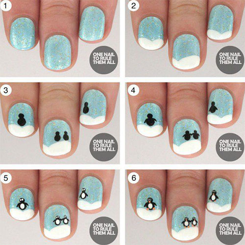10-Simple-Winter-Nail-Art-Tutorials-For-Learners-2016-5