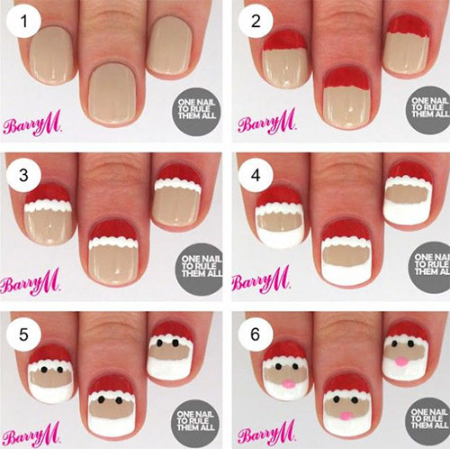 10-Simple-Winter-Nail-Art-Tutorials-For-Learners-2016-6