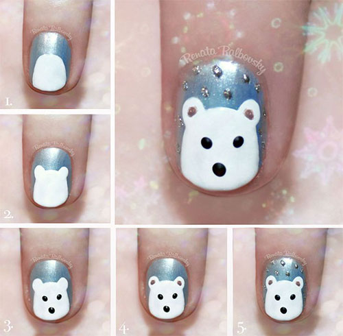 10-Simple-Winter-Nail-Art-Tutorials-For-Learners-2016-7