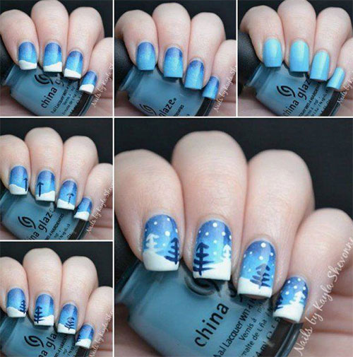 10-Simple-Winter-Nail-Art-Tutorials-For-Learners-2016-8
