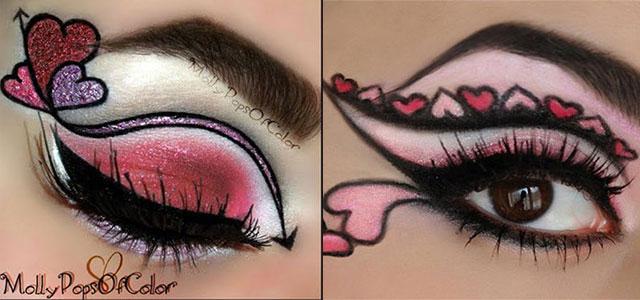 Image result for Valentine's eye makeup,