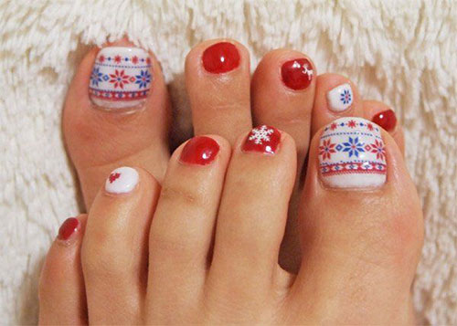 Easy-Cute-Winter-Toe-Nail-Art-Designs-Ideas-2016-3