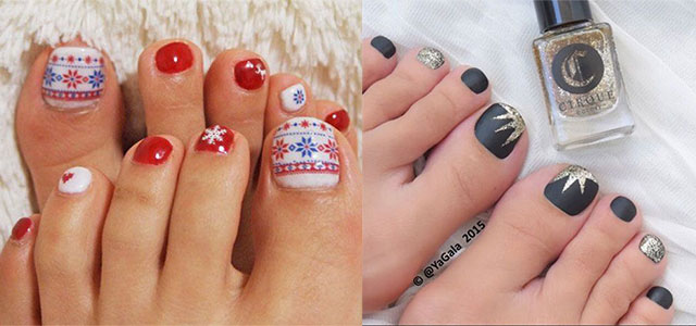 Easy-Cute-Winter-Toe-Nail-Art-Designs-Ideas-2016-F