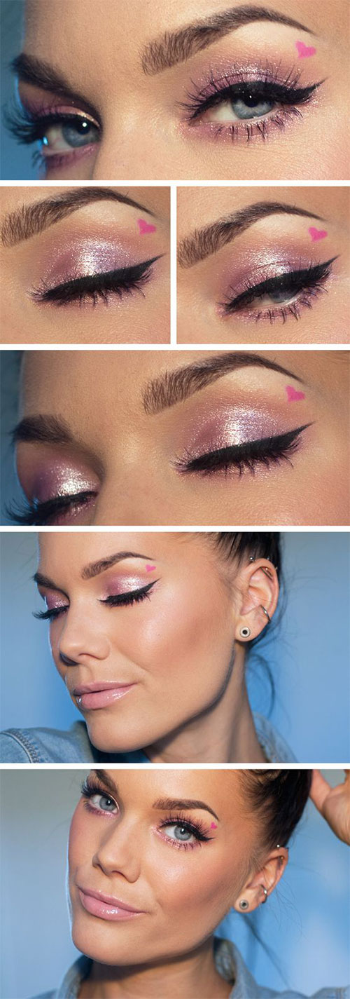 12-Easy-Valentines-Day-Makeup-Tutorials-For-Beginners-Looks-2016-7