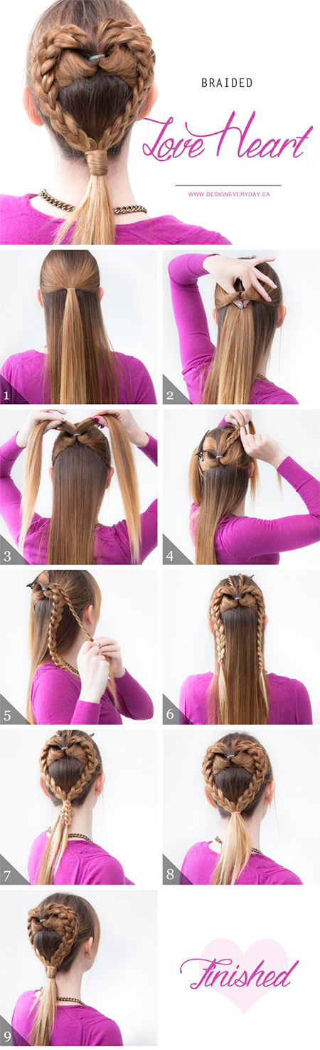 Easy-Valentines-Day-Hairstyle-Tutorials-For-Beginners-Learners-2016-1