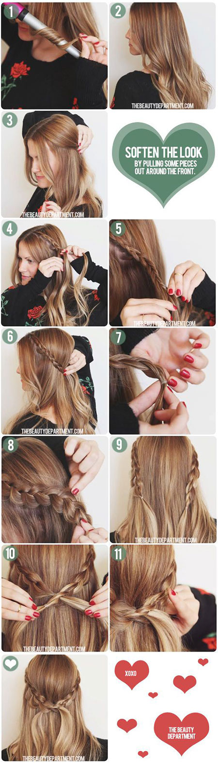 Easy-Valentines-Day-Hairstyle-Tutorials-For-Beginners-Learners-2016-7