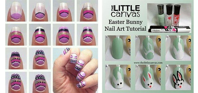 10 easy step by step easter nail art tutorials for learners 2016 10 easy step by step easter nail art prinsesfo Gallery