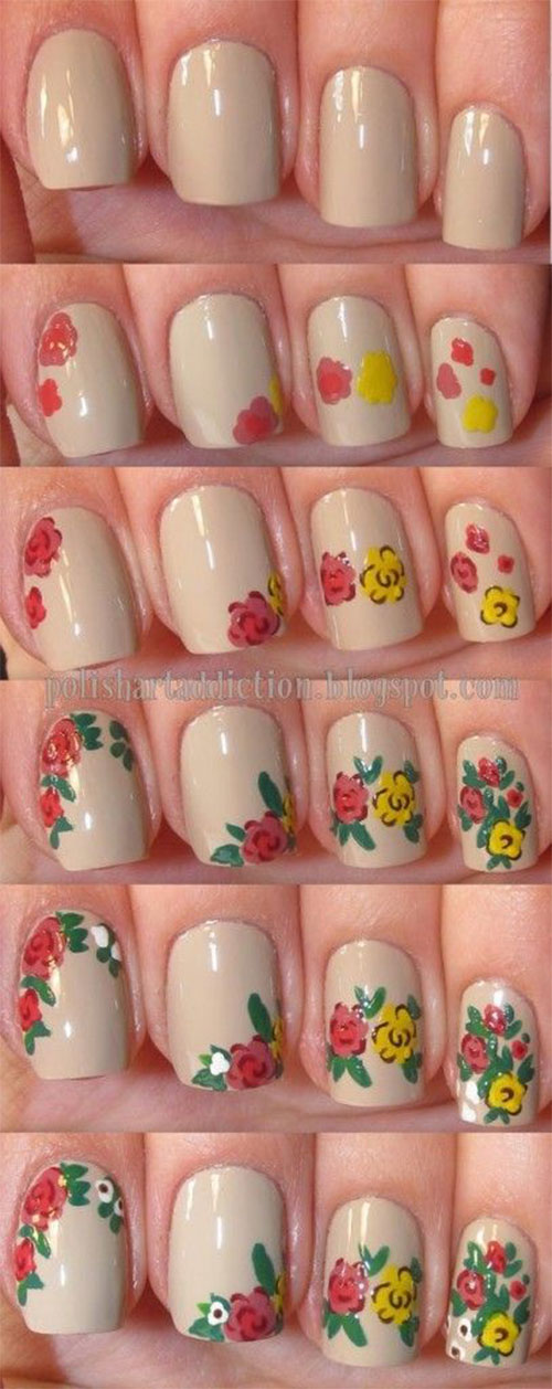 15+ Easy Spring Nails Tutorials For Beginners & Learners 2016 ...