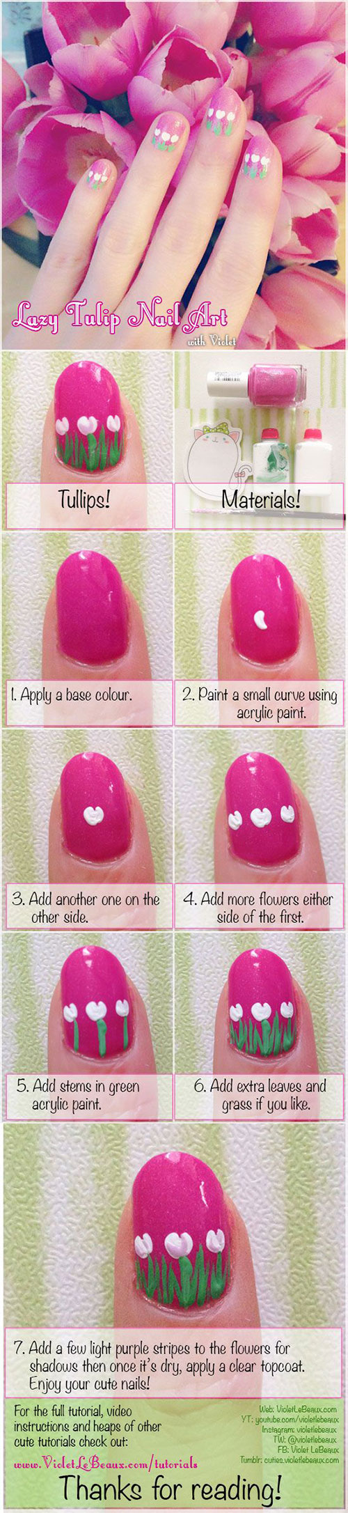 15-Easy-Spring-Nails-Tutorials-For-Beginners-Learners-2016-16
