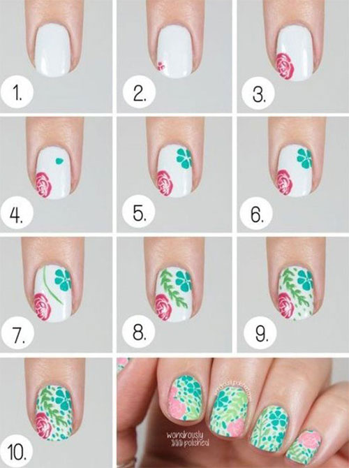 15-Easy-Spring-Nails-Tutorials-For-Beginners-Learners-2016-6