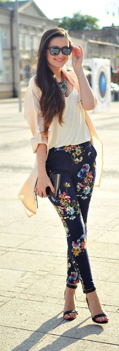 20-Pink-Black-Blue-Floral-Pants-Fashion-Ideas-2016-For-Girls-Women-10