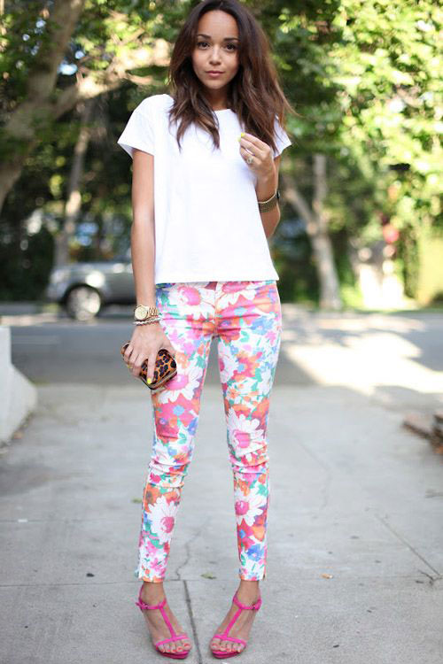 20-Pink-Black-Blue-Floral-Pants-Fashion-Ideas-2016-For-Girls-Women-12