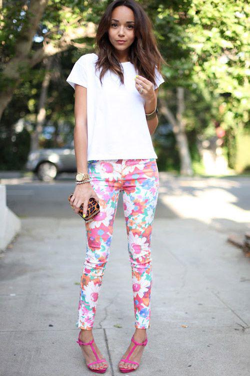 20-Pink-Black-Blue-Floral-Pants-Fashion-Ideas-2016-For-Girls-Women-12