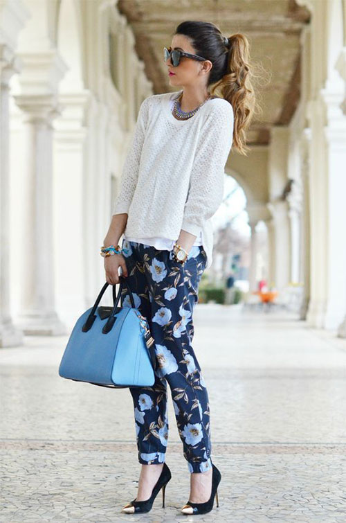 20-Pink-Black-Blue-Floral-Pants-Fashion-Ideas-2016-For-Girls-Women-14