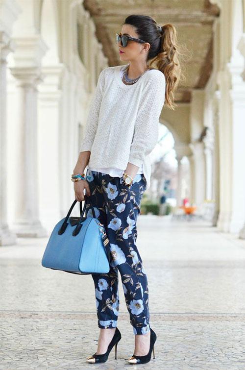 20-Pink-Black-Blue-Floral-Pants-Fashion-Ideas-2016-For-Girls-Women-14